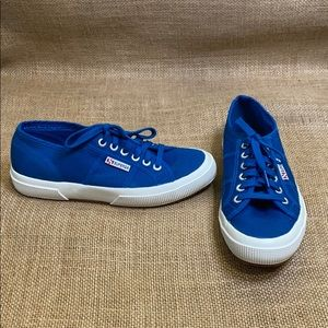Superga Classic Low Top Sneakers Blue size 8
